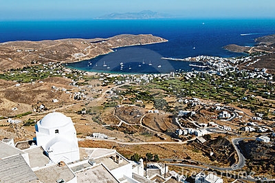 Aerial view of Kythnos