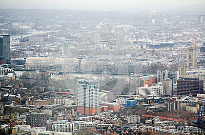 Aerial view of Lambeth and Westminster