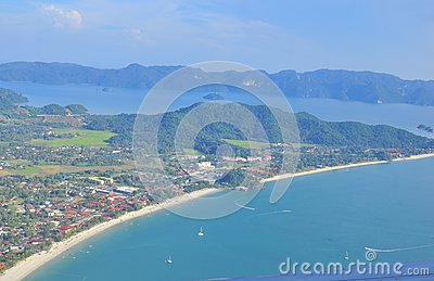 Aerial view of Langkawi Island Malaysia Editorial Stock Photo