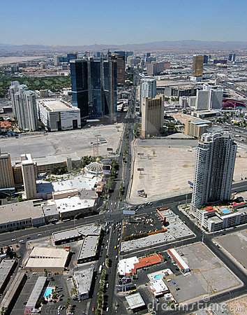 Aerial View of Las Vegas Boulevard North Editorial Photography