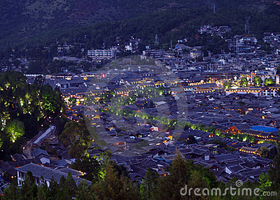 An aerial view of Lijian City China