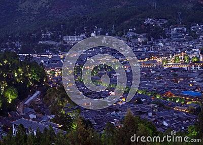 An aerial view of Lijian City China