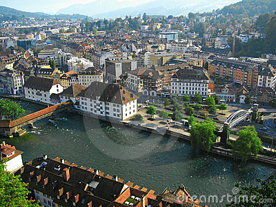 Aerial view of Lucerne, Switzerland 2