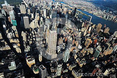 Aerial view of Manhattan Editorial Image