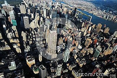 Aerial view of Manhattan Editorial Image