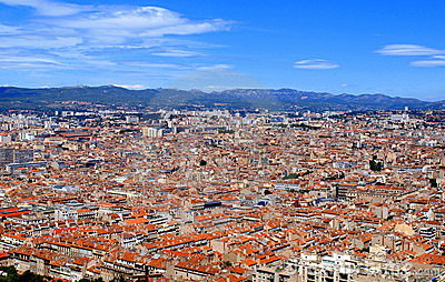 Aerial view of Marseille