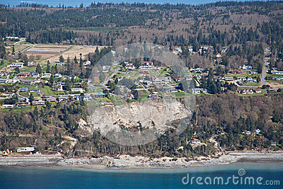 Whidbey Island Landslide Aerial Editorial Photo