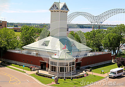 Aerial View of The Memphis Tennessee Visitors Center Editorial Image