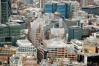 Aerial View, Minster Court, City of London