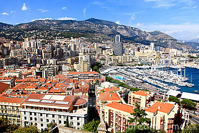 Aerial view of Monte-Carlo Monaco