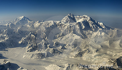 Aerial view at mount Denali (McKinley)