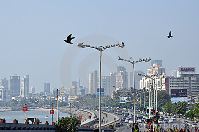 Aerial View of Mumbai Editorial Photo