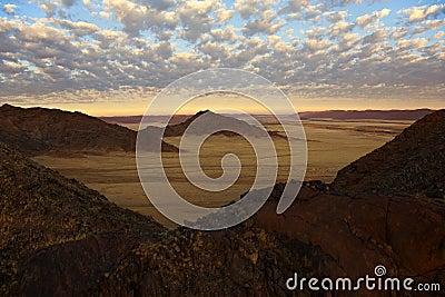 Aerial view - Namib-Nauklft Desert - Namibia