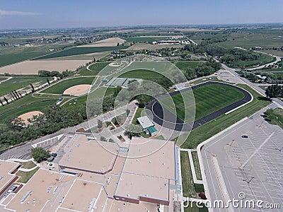 Aerial View of Niwot High School Sports Fields