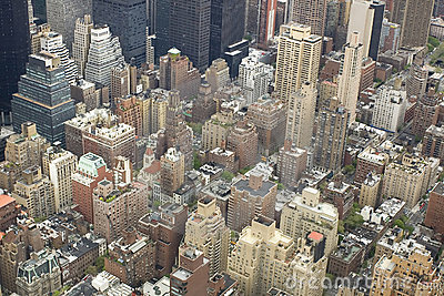 Aerial view of nyc center