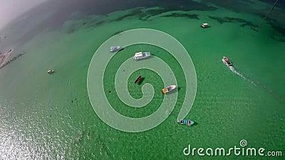 Aerial view of ocean stock video