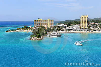 Aerial View of Ocho Rios Jamaica