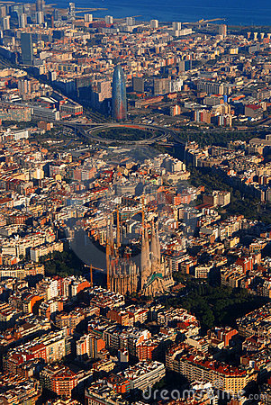 Free Aerial View Of Barcelona Royalty Free Stock Images - 3640629