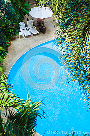 Free Aerial View Of Beautiful Luxury Hotel Swimming Pool Resort With Royalty Free Stock Images - 86012969
