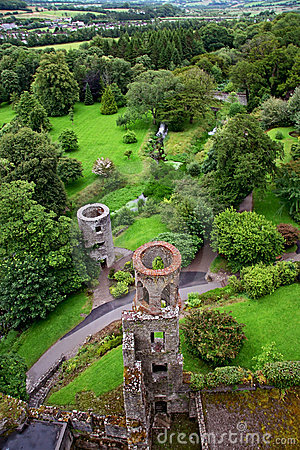 Free Aerial View Of Blarney Castle S Towers And Park Stock Photo - 12835700