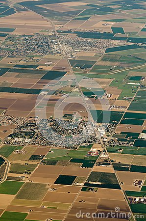 Free Aerial View Of Farm Land Crop Fields In Usa Royalty Free Stock Images - 94261229