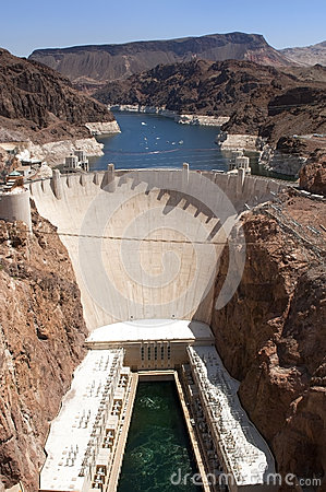 Free Aerial View Of Hoover Dam Royalty Free Stock Images - 25266949