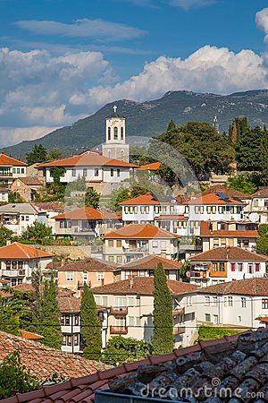 Free Aerial View Of Ohrid Stock Photography - 45449852