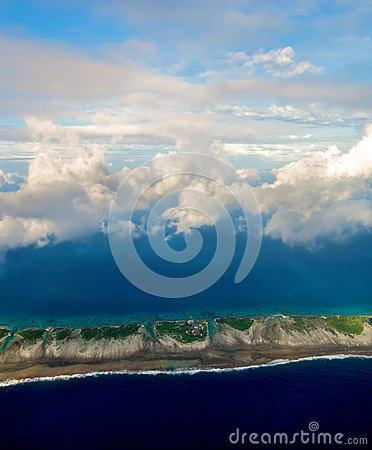 Free Aerial View Of Rangiroa Stock Photography - 48917062