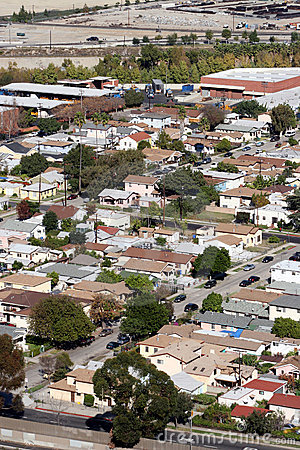 Free Aerial View Of Suburbs Royalty Free Stock Photography - 390947