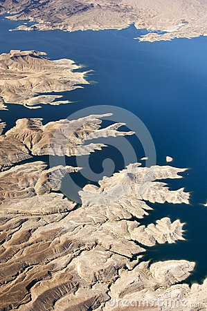 Free Aerial View Of The Colorado River And Lake Mead Stock Images - 25266954