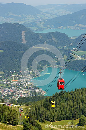 Free Aerial View Of The Lake St. Wolfgang, Austria Stock Photo - 69367300