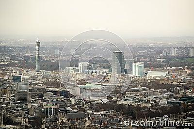 Aerial View over Bloomsbury, London