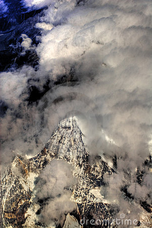 Aerial view over Himalayas