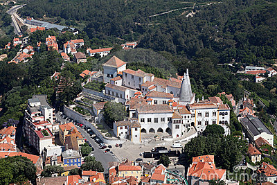 Aerial view over Sintra, Portugal