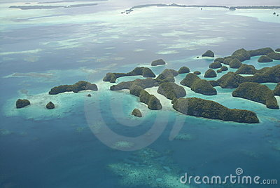 Aerial view of Palau s Seventy Islands