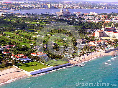 Aerial view of Palm Beach Breakers Golf Course