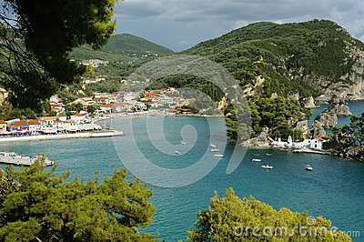 Aerial view of Parga