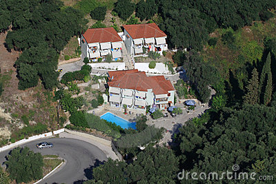 Aerial view on Parga Greece