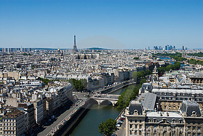 Aerial view of the Paris.
