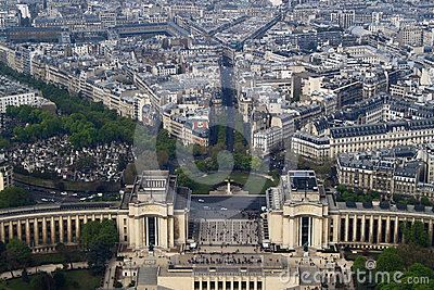 Aerial View of Paris Editorial Stock Image