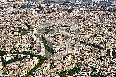 Luchtfoto zicht op parijs vanaf de eiffeltoren foto spiderpic royalty vrije stock foto 39 s - Landscaping parijs ...