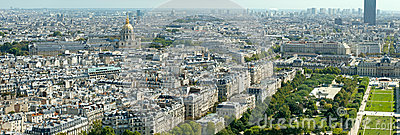 Aerial view of Paris from Eiffel Tower