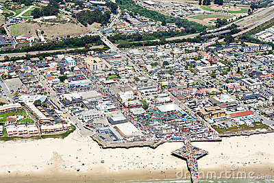 Aerial view of Pismo Beach, CA