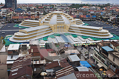 Aerial view of Pnom Penh