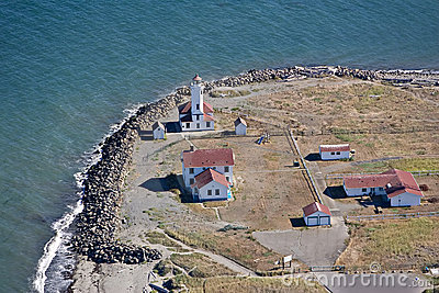 Aerial View of Point Wilson Lighthouse