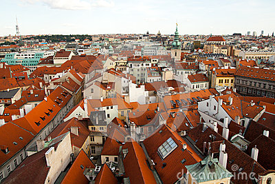 Aerial view of Prague, Czech Republic