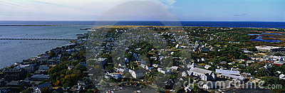 Aerial view of Provincetown and Cape Cod, MA