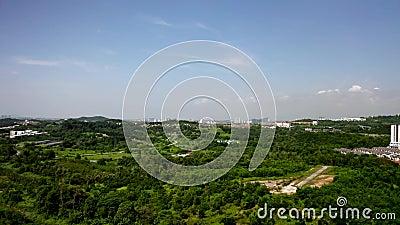 Aerial View of Puchong city landscape, Malaysia. City near Kuala-Lumpur stock footage