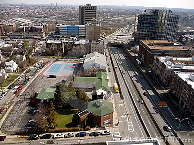 Aerial view of Queens