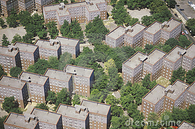 Aerial view of Queens apartment